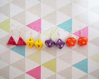 Polyhedral Dice Earrings