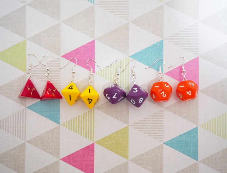 Polyhedral Dice Earrings image 0