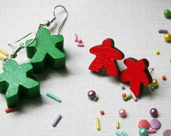 Meeple Earrings - Drop / Stud - Many Colours!