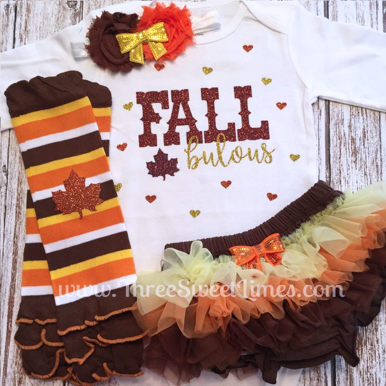 7b3708253 FALLbulous baby girl Fall Outfit Fall First Thanksgiving | Etsy