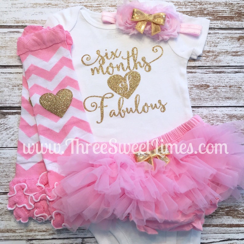 75be8034 Six Months Of Fabulous Baby Girl Outfit 6 Month Outfit | Etsy
