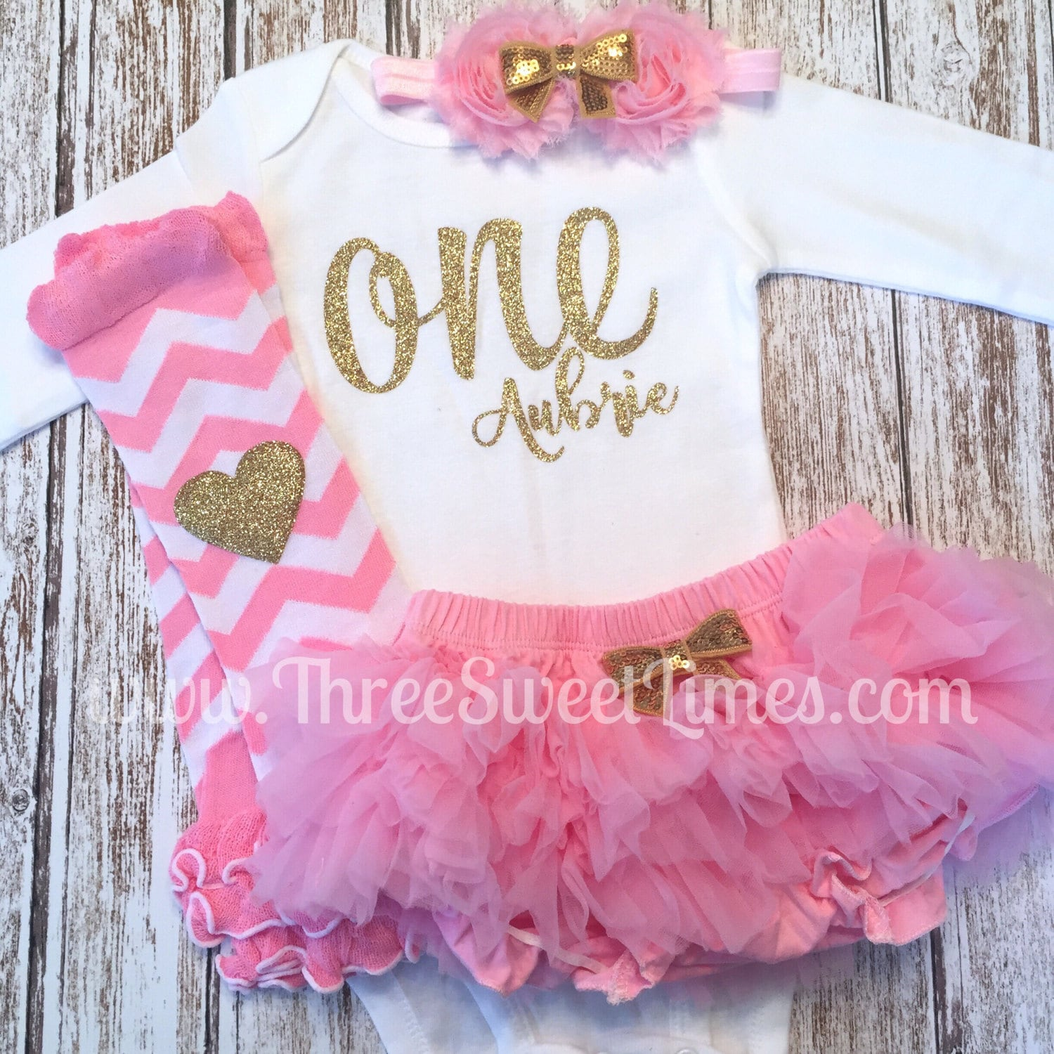303afc4e0 First Birthday ONE Outfit Personalized Birthday Party Tutu