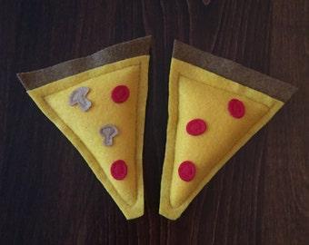 Pizza Catnip Cat Toy - Catnip Kitty Toy - Organic Cat Nip Pizza Slice - Pizza Party Pawty - Slice of Pizza