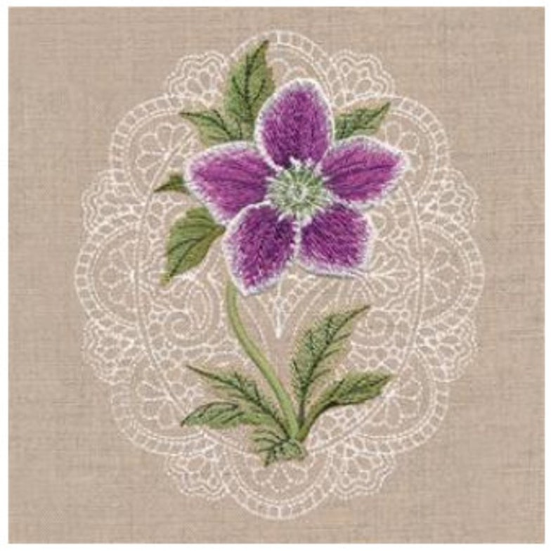 grandma. Lenten Rose Embroidered floral apron for mom