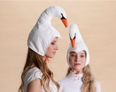 Swan Hat for women and teenagers,  adult costume, women costume