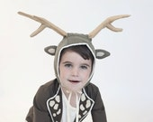 Deer hat with antlers costume,  Holiday outfit