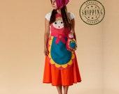 Russian nesting doll matryoshka costume for women and teenagers,  Kids costume, girls costume