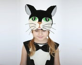 Cat hat,  Kids costume, girls costume