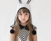 Girls white rabbit / bunny costume premium collection