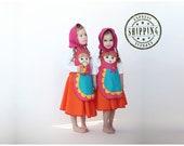 Russian nesting doll matryoshka costume for girls,  Kids costume, girls costume