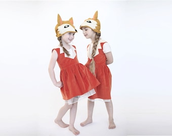 Girls Fox costume, Handmade Christmas Gift Girls fox dress up, Halloween girl costume, Fairytale gift , toddler costume,  carnival costume