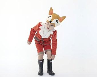 Boys fox costume, Handmade Christmas Gift, kids fox costume, Boys fox costume, kids boys costume, Fairytale gift , Halloween costume
