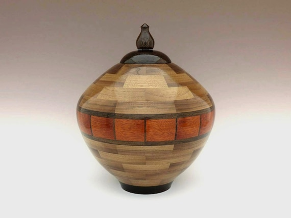 Companion Wood Cremation Ash Urn Human Double Memorial