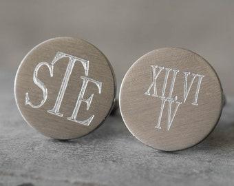 Engraved Cufflinks - Personalized Cufflinks - Custom Cufflinks - Wedding Cufflinks - Groom Cufflinks - Anniversary Cufflinks - Men Cufflinks