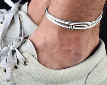 venta profesional descubre las últimas tendencias la mejor moda Tobilleras para los hombres pulsera para el tobillo de los ...