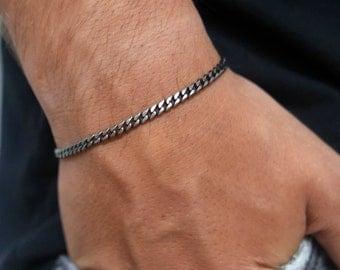 Men's Bracelet, Men's Silver Bracelets, Men's Chain Bracelet, Men's Cuff Bracelet, Men's Jewelry, Men's Gift, Husband Gift, Boyfriend Gift