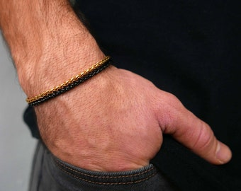 Men's Bracelet - Men's Chain Bracelet - Men's Cuff Bracelet - Men's Jewelry - Men's Gift - Boyfriend Gift - Husband Gift - Gift For Dad