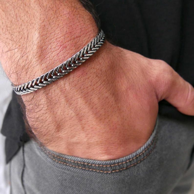 Men's Bracelet Men's Silver Bracelets Men's image 0