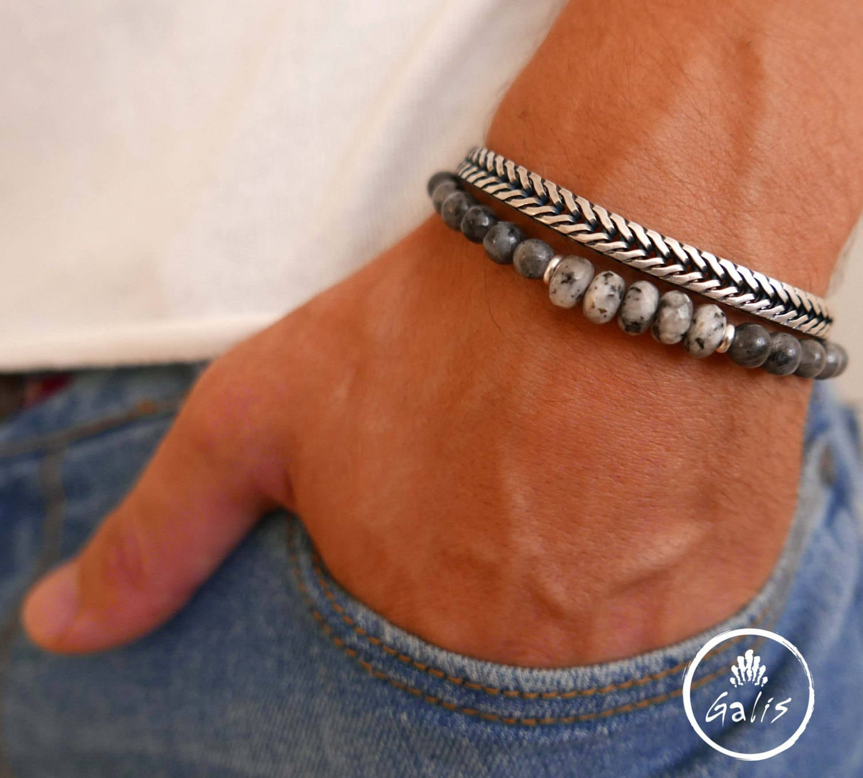 herren armband set m nner perlen armband schmuck f r etsy. Black Bedroom Furniture Sets. Home Design Ideas