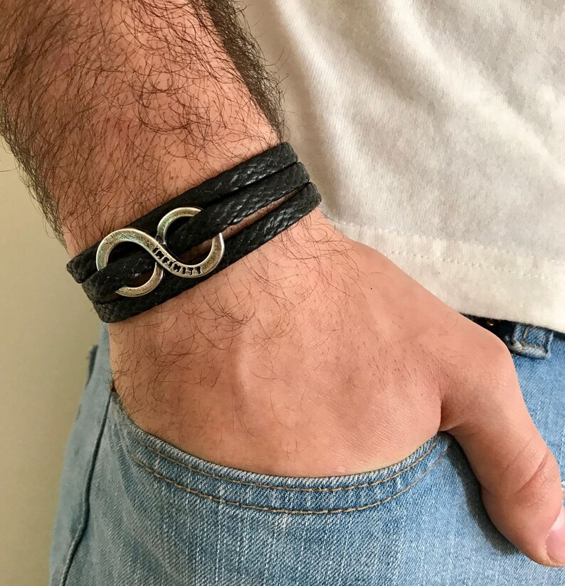 857b150eb7271 Men's Infinity Bracelet - Men's Bracelet - Men's Jewelry - Men's Vegan  Bracelet - Men's Gift - Husband Gift - Present For Men - Male Jewelry