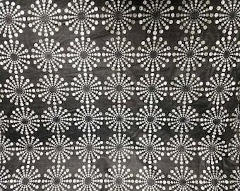 Circular Motion - Waverly Fabric - Tuxedo - By the yard - Morningstars