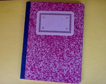 Vintage Notebook - Hard-back Journal - Marbled