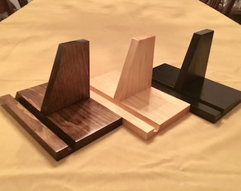 Rustic Solid Pine Tablet Stand