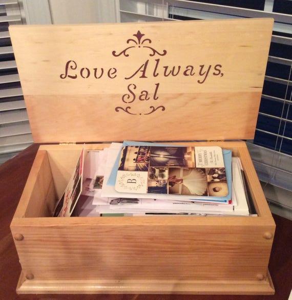 Wedding Gown Preservation Boxes: Handmade Wooden Keepsake Box Wooden Storage Box Wood Box