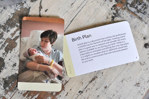 Giving Birth Educational Flashcards Introduce You To 50 Birth Etsy