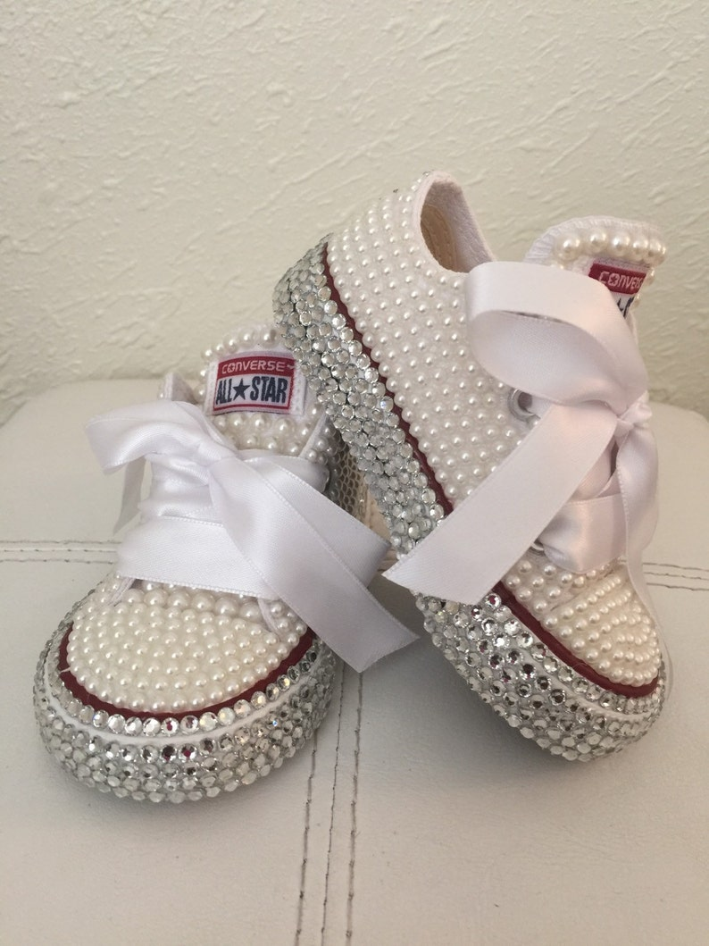Baby diamond and pearl Converse  8de4ffbde