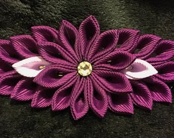 Purple Flower Barrette