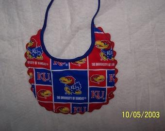 University Of Kansas Reversible Baby Bib
