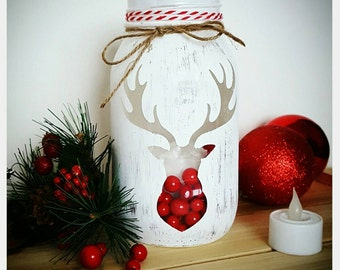 christmas deer decor gifts for him deer decor holiday decor christmas decor christmas gifts gifts for her deer antler decor