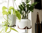 indoor hanging plant hanger leather plant hammock hanging indoor jungle air plant hanger macrame plant holder minimal planter hygge decor