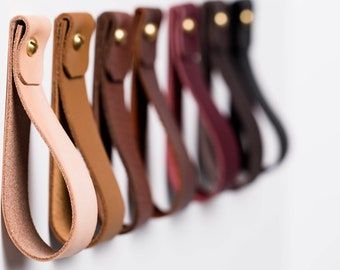 leather wall hanging strap   wall hook  hanging storage   home decor   leather strap hanger   towel holder   leather home accessories