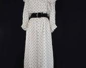 1970 39 s Victorian revival polka dot dress