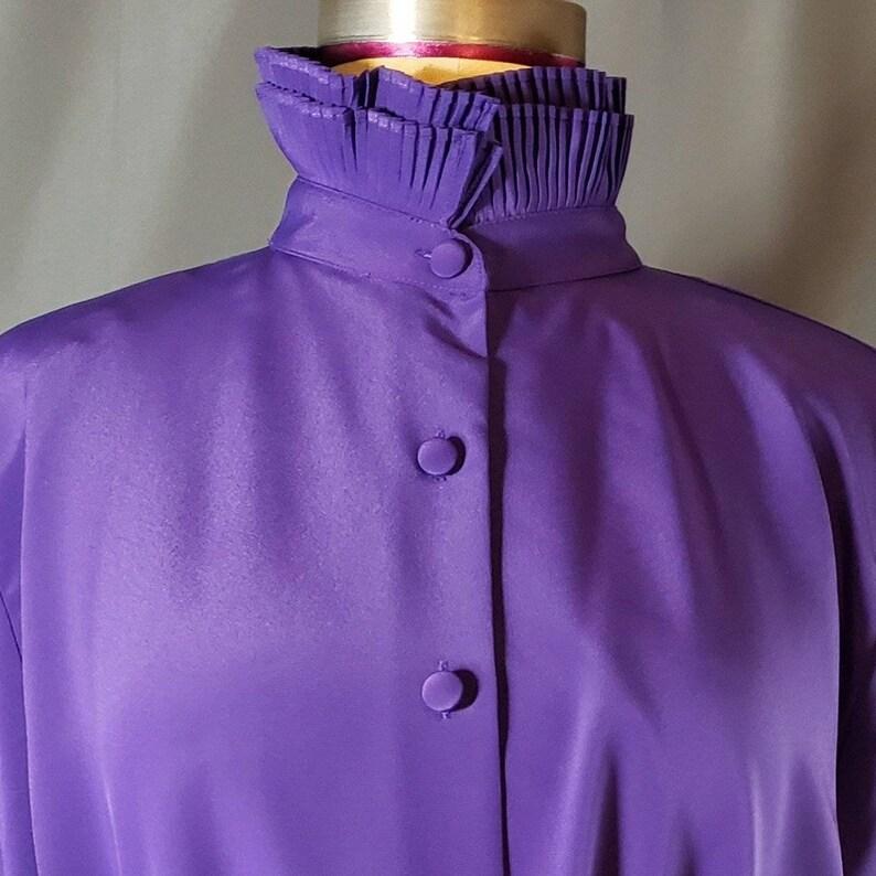 NWT Summit Hill purple high neck Victorian style purple top.