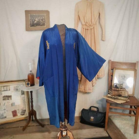 Vintage 1940s 1950s blue kimono!