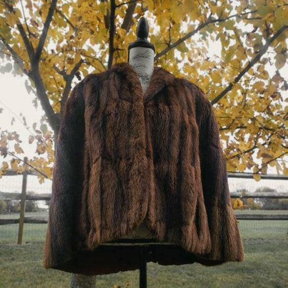 Gorgeous vintage 1930s mink fur cape!