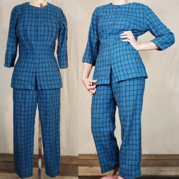 1960s darling handmade two piece wool suit!
