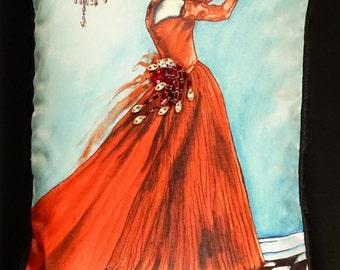 Red Dress Pillow