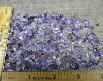 Tiny Amethyst Chips, 1 OZ,  No Holes