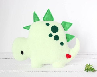 Stegosaurus Plush, Dino Plush, Dinosaur Plush, Dinosaur Stuffed Animal, Dinosaur Toy, Fleece Dinosaur, Baby Shower, Baby Boy, Baby Girl