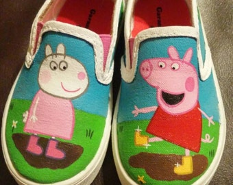 Hand Painted Peppa Pig Themed Shoes *MADE TO ORDER*