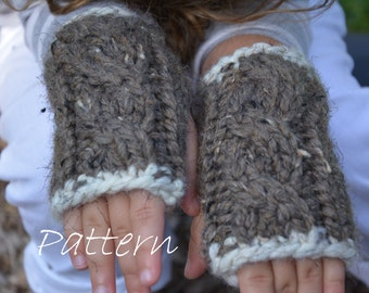 3a5c5552ab94 Knit Mittens Pattern   Fingerless Gloves Knitting Pattern