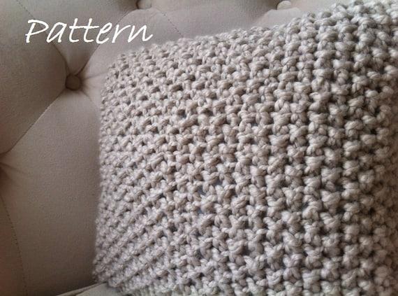 Decorative Knit Pillow Pattern DIY Chunky Throw Pillow Cover Etsy Simple Knitted Pillow Cover Pattern