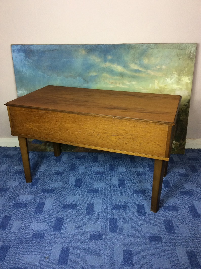 Midcentury 1960s Teak Coffee Table Sewing Box By Arnold Etsy