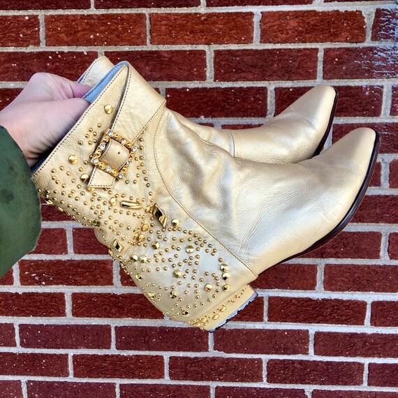 SUR SUR SUR Hold.do pas  .1960s/1970s/1980s/1990s cheville boots.studded.  8 1/2.8.5.8.7 1/2.chelsea boots.vintage.booties. | Dernière Arrivée  8590c0
