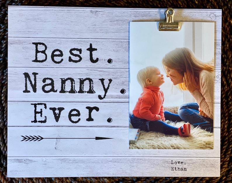 Nanny Personalized Gift Idea Picture Frame for Nanny Nanny Appreciation Present Nanny Thank you