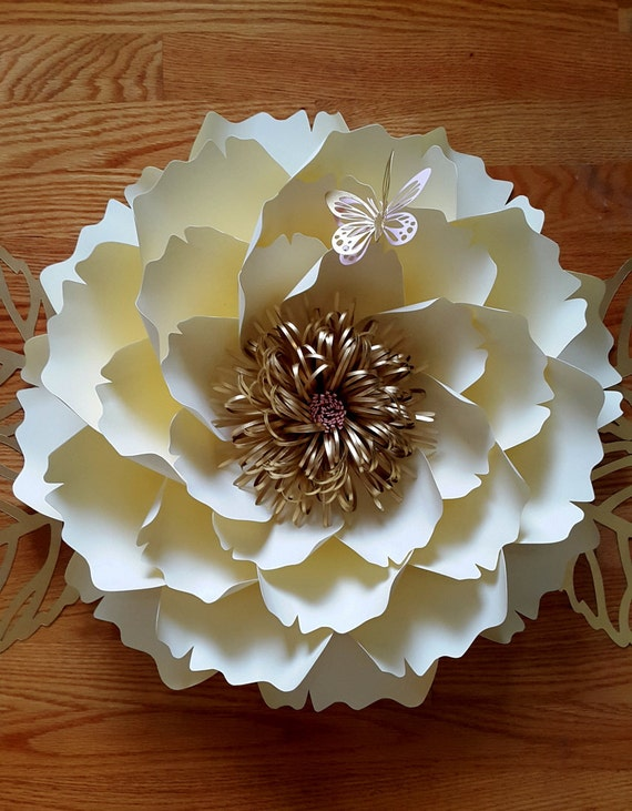 paper flower template paper flower tutorail svg cut file diy etsy